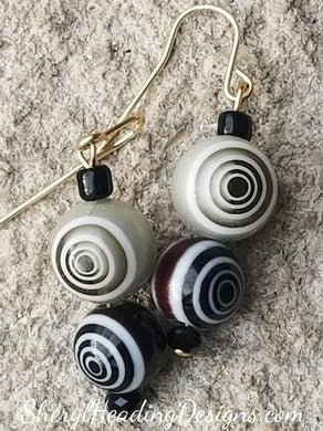 Too Cute Double Optical Illusion Earrings - Sheryl Heading Designs