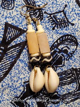 Cool Cowrie Dangle Earrings - Sheryl Heading Designs
