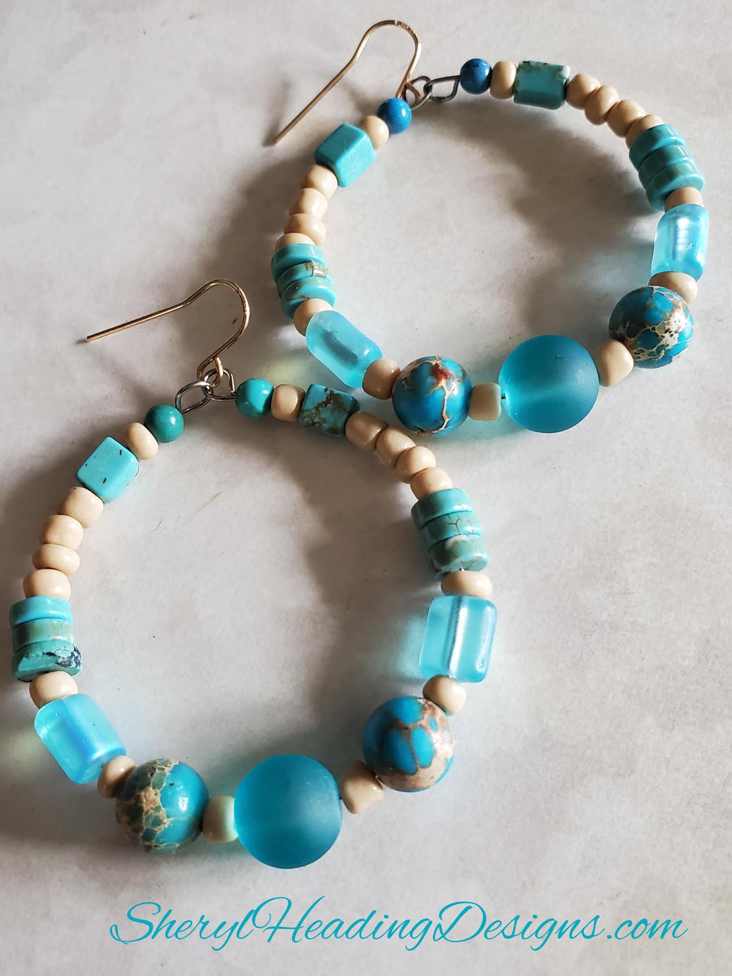 Turquoise Hoop Earrings are Calling Your Name