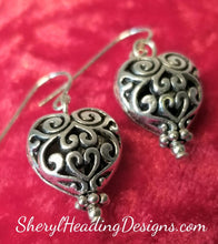 A Sweet Swirlin' Pair of Hearts Earrings - Sheryl Heading Designs