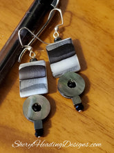 Shades of Gray Shell Dangle Earrings - Sheryl Heading Designs