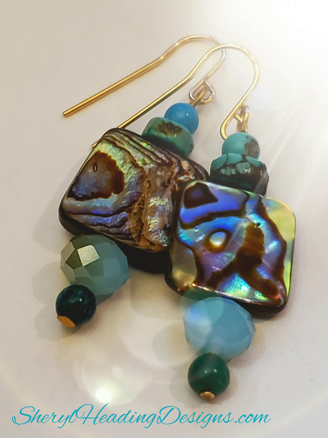 Light and Lovely Mother of Pearl Dangles