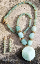 Ahhhh...Aventurine Brazilian Pleasure Gold Necklace and Earring Set - Sheryl Heading Designs