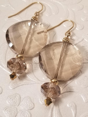 A Sweet Pair of Smoky Topaz Crystal Earrings - Sheryl Heading Designs