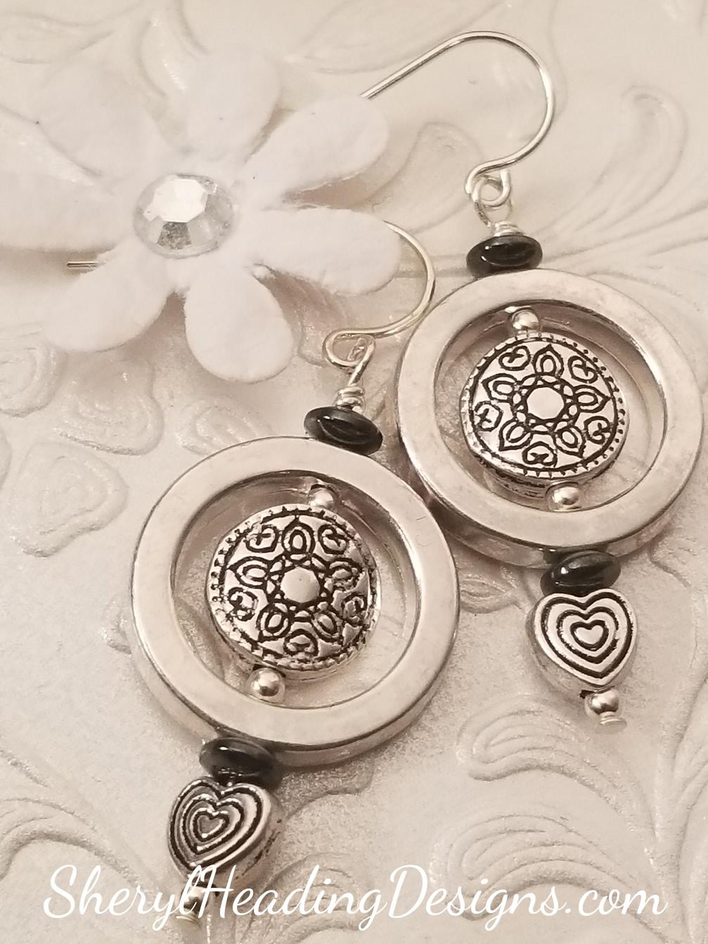 Sweet Silver Dangle Earrings - Sheryl Heading Designs