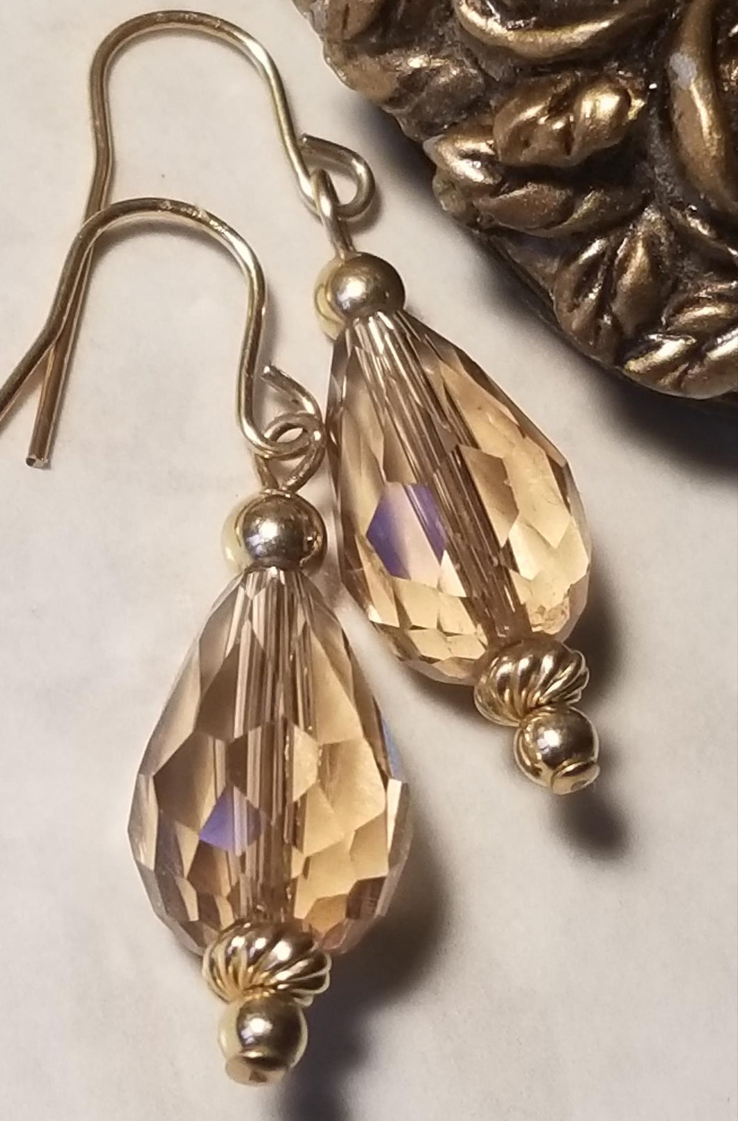 Topaz Crystal Drop Earrings - Sheryl Heading Designs