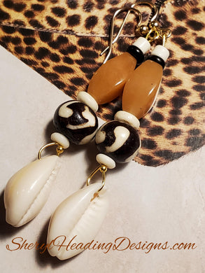 A Rich Treasure Cowrie Shell Necklace - Sheryl Heading Designs