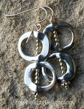 Ms. Fancy Dangle All Silver Earrings - Sheryl Heading Designs
