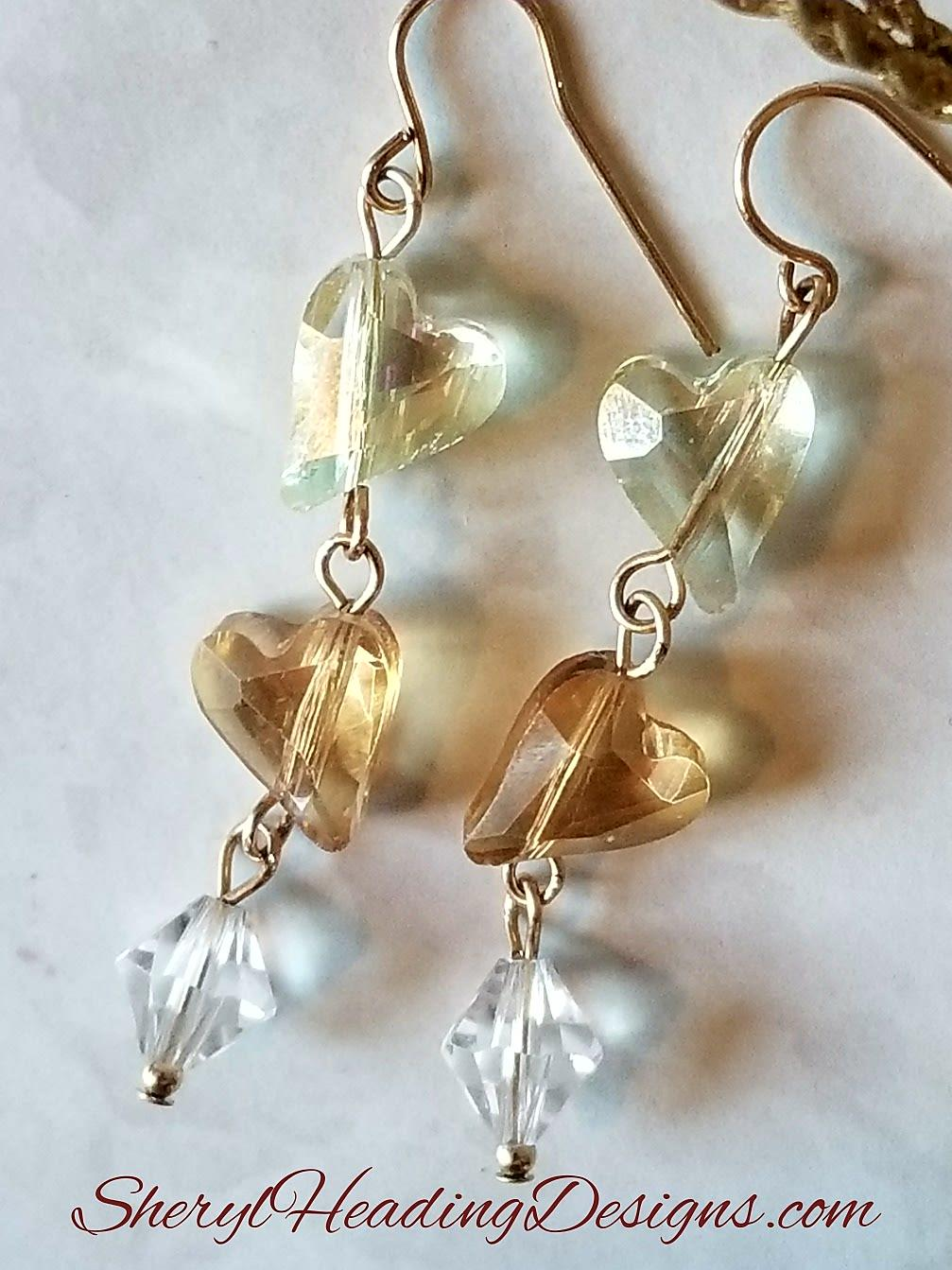 NEW ITEM!! Two Hearts Make One Earrings - Sheryl Heading Designs