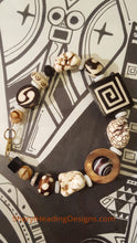 Exotic African Beads, Shell, and Onyx Beads with a Gold-Filled Clasp Bracelet - Sheryl Heading Designs