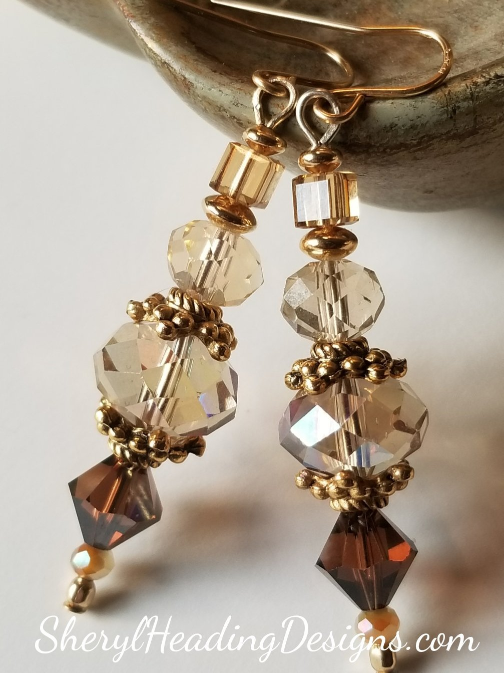 Vintage Glamour Glitzy Earrings - Sheryl Heading Designs