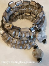 Shades of Grey Wrap Bracelet - Sheryl Heading Designs