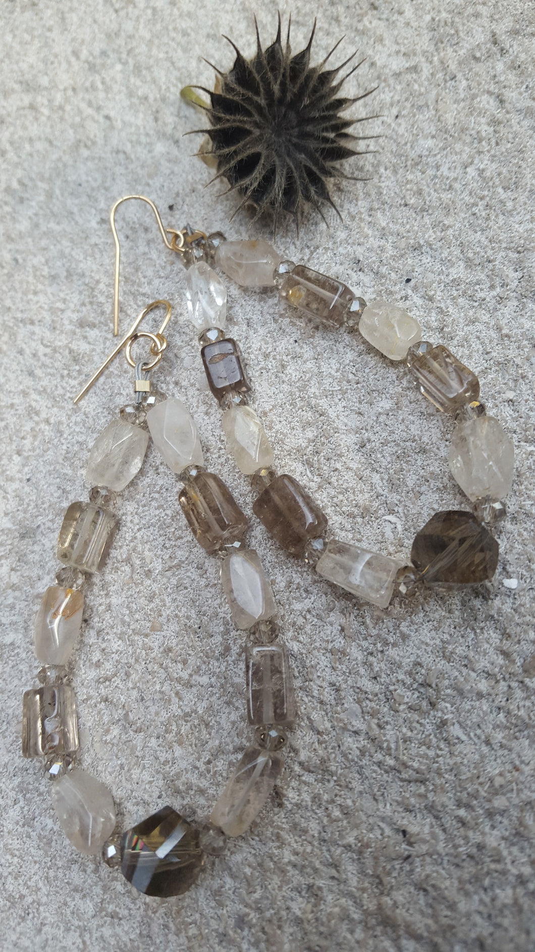 Radiant Cluster of Semi Precious Stones Earrings - Sheryl Heading Designs