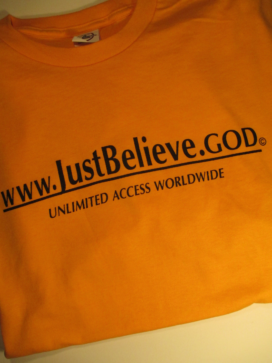 CLEARANCE !!! $3.00 Just Believe.God T-Shirt - Sheryl Heading Designs