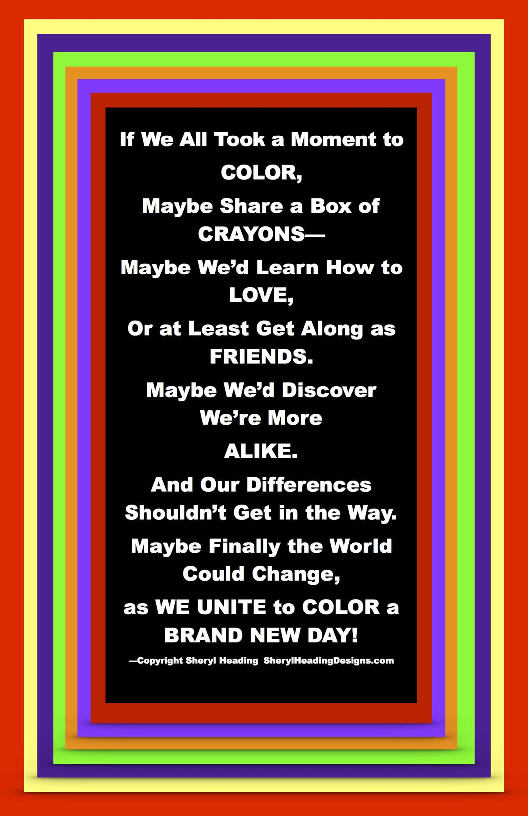 Color A Brand New Day! Poster - Sheryl Heading Designs