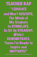 Teacher Rap/Educators Rap Poster - Sheryl Heading Designs