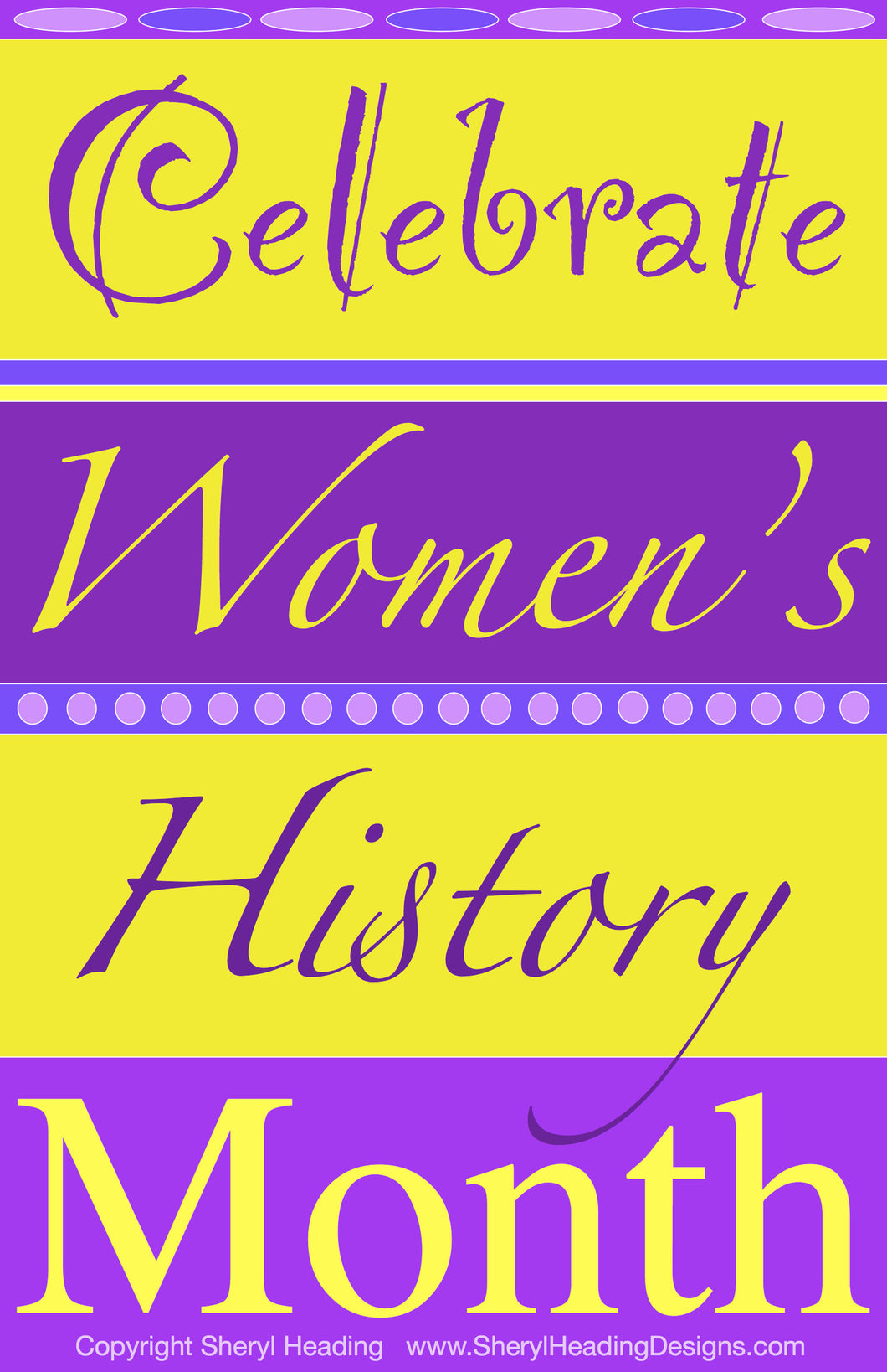 Celebrate Women's History Month Poster - Sheryl Heading Designs