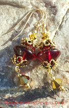 Vintage Ruby Red Passion Earrings - Sheryl Heading Designs