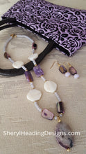 One of a Kind Purple Passion Necklace and Earring Set - Sheryl Heading Designs