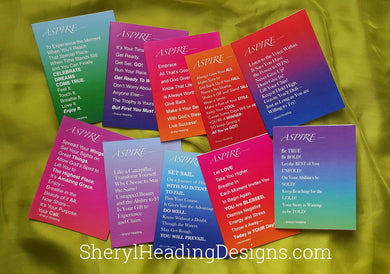 Aspire Inspirational Blank Note Cards, Set of 10 Boxed Cards - Sheryl Heading Designs