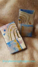 "(SOLD) Hand Painted Earring "" Misty Blue and You"" - Sheryl Heading Designs"