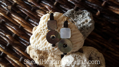 Geometric and Artsy Drop and Dangle Gray Earrings - Sheryl Heading Designs
