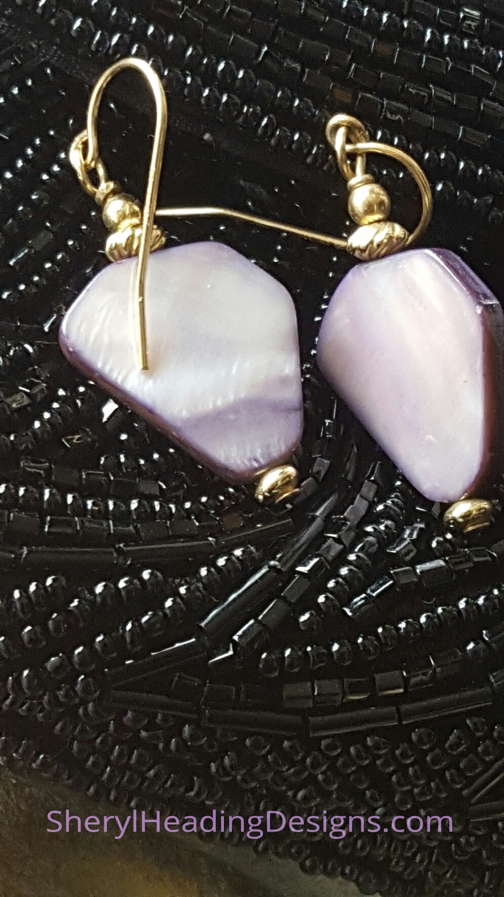 Purple Love Dangle Earrings - Sheryl Heading Designs