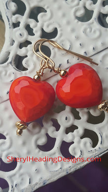 (SOLD This Heart is For You Earrings - Sheryl Heading Designs