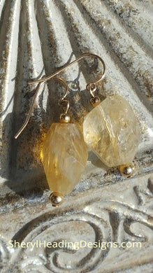 Citrine and Gold Filled Beads Earrings - Sheryl Heading Designs