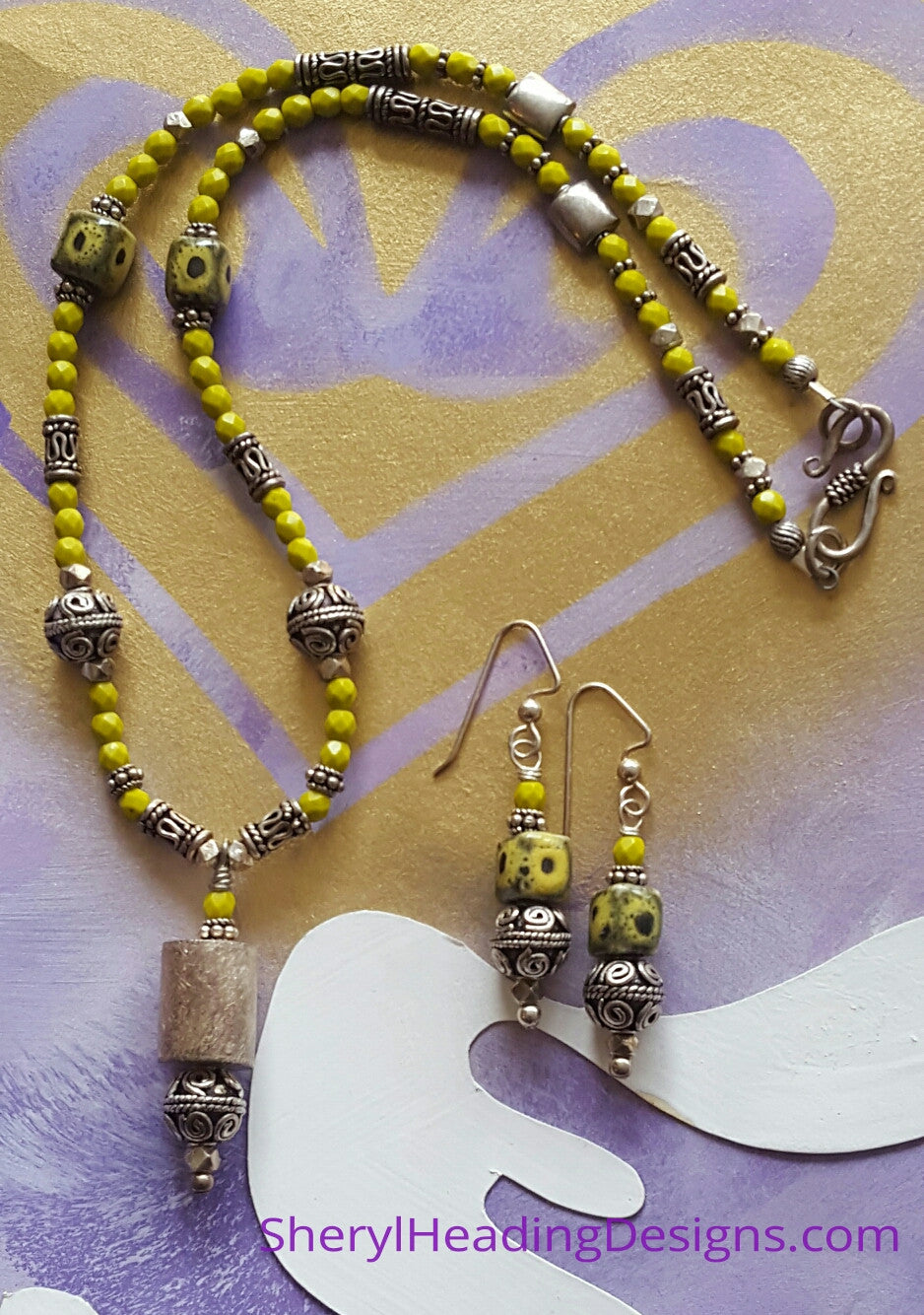 Bali Delicious Necklace and Earring Set - Sheryl Heading Designs