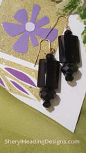 Black Multifaceted Earrings - Sheryl Heading Designs
