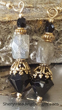 Vintage Labradorite and Crystal Earrings - Sheryl Heading Designs