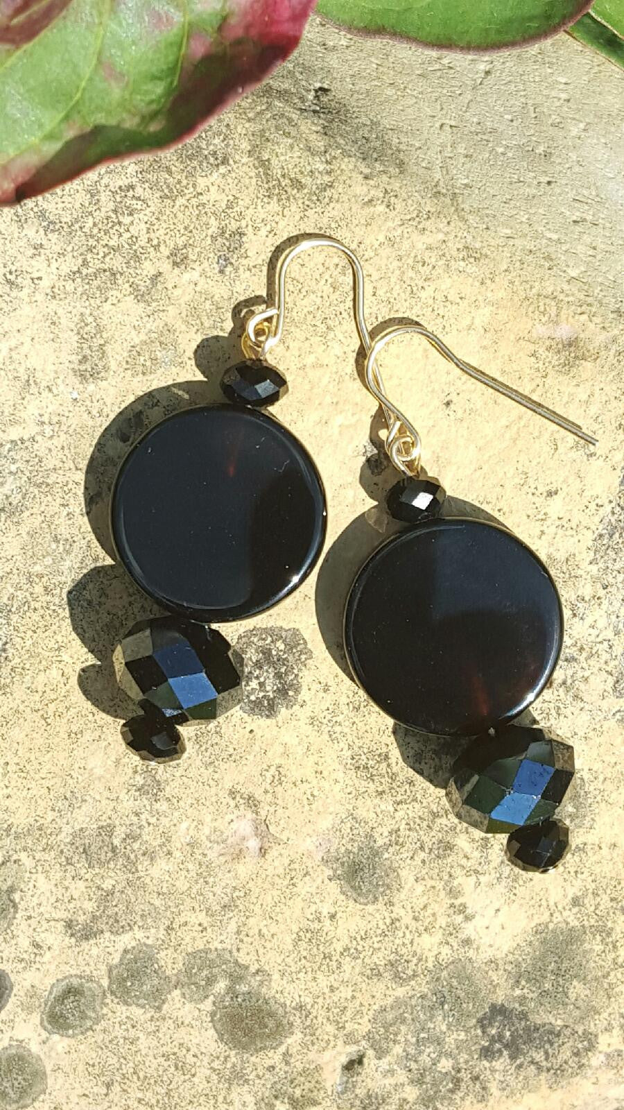 Round About Black Earrings - Sheryl Heading Designs