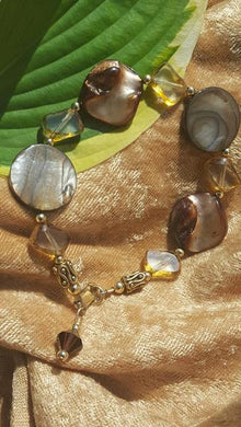 Exquisite Shades of Brown Bracelet - Sheryl Heading Designs