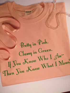 AKA Pretty In Pink T Shirt - Sheryl Heading Designs