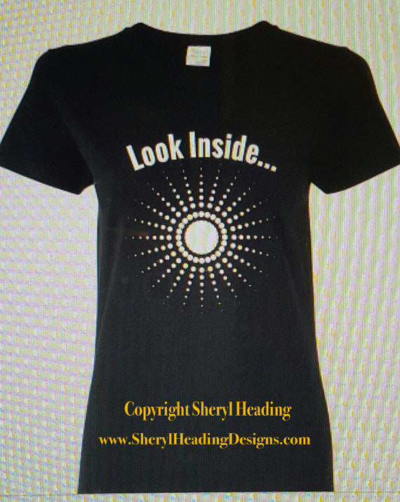 Look Inside Black Ladies Inspirational T Shirt - Sheryl Heading Designs