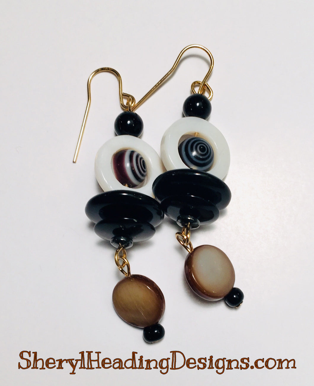Double Drop Dangle Earrings - Sheryl Heading Designs