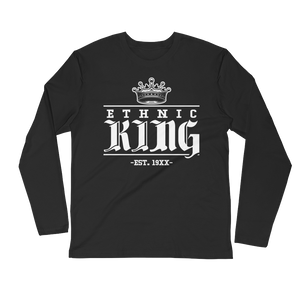Fitted Black Ethnic King Long sleeve - Mytshirtculture