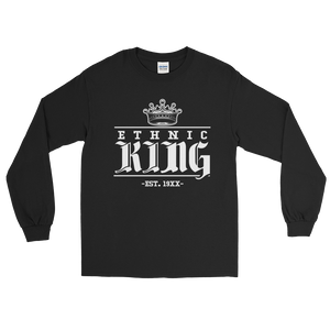 Ethnic King Long sleeve w/ White Design - Mytshirtculture