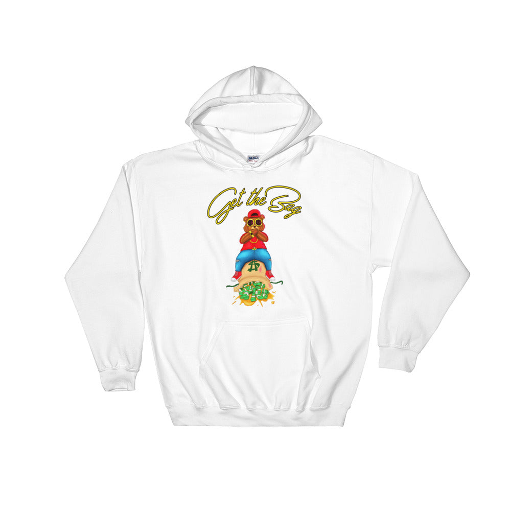 Contemporary Get The Bag Hoodie ( Gold Text ) - Mytshirtculture