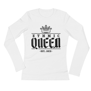 Premium White Ethnic Queen Long sleeve - Mytshirtculture