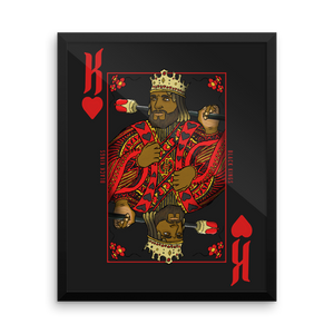 Framed King of Hearts Poster - Mytshirtculture