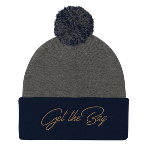 Get The Bag Pom Pom Knit Cap - Mytshirtculture
