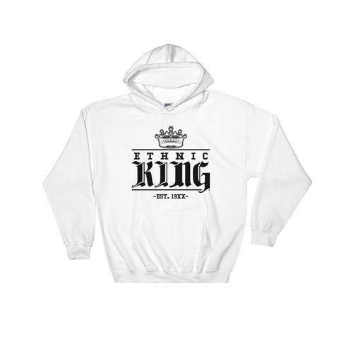 Ethnic King Hoodie Sweatshirt w/ Black Design - Mytshirtculture