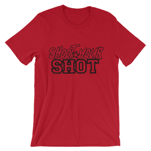 "Shoot Your Shot Tee w/ Black Design ""Text only"" - Mytshirtculture"