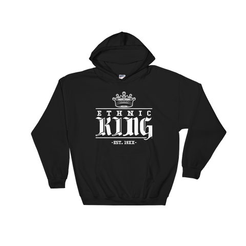 Ethnic King Hoodie Sweatshirt w/ White Design - Mytshirtculture