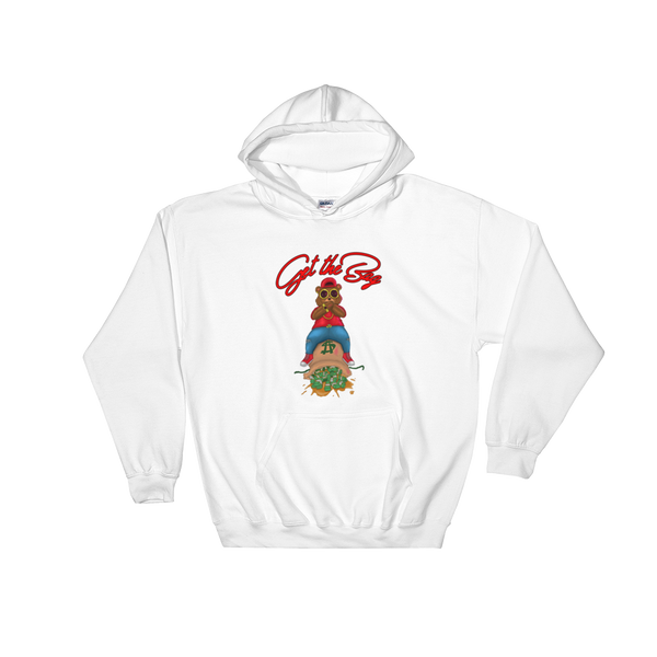 Get The Bag Hoodie ( Red Text ) - Mytshirtculture