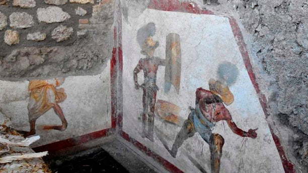 Gladiator fresco discovered at Pompeii - Ancient Rome