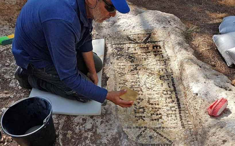 1,600-year-old Greek inscription discovered at Ancient site of Israel