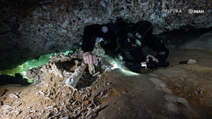 Ancient 12,000-Year-Old Mine Discovered in Underwater Caves on Mexican Coast